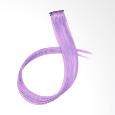 ME TIME AAS0043 Colourful Synthetic Lurus Clip Hair Extension - Purple