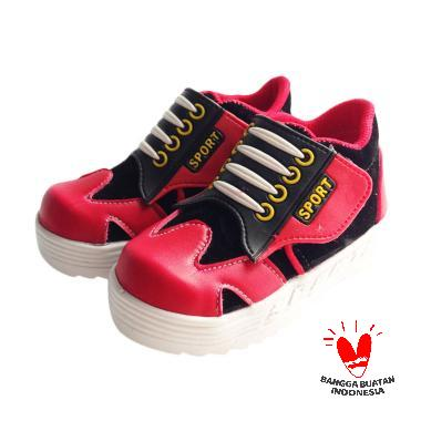 Onemarkets B03 Sepatu Bayi Laki-laki - Hitam Merah aea9cfa019