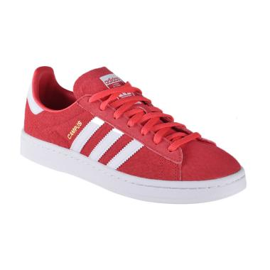 adidas Women Originals Campus Shoes Sepatu Olahraga - Red (BY9847)