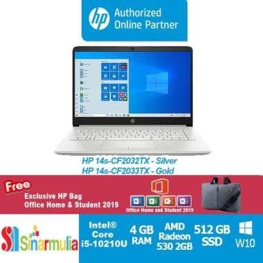 harga HP 14S-CF2033TX GOLD / CF2032TX SILVER i5-10210U/4GB/512GB SSD/VGA 2GB/Win 10 Home+OHS 2019] Silver Blibli.com