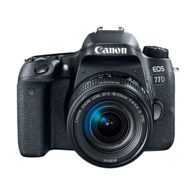 Canon EOS 77D Kit 18-55mm IS STM Kamera DSLR - Black