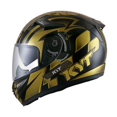 KYT K2 Rider World GP Ready Helm Full Face - Black Gold