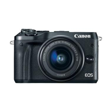 Canon EOS M6 Kit 15-45mm Free Batt  ...  Guard Resmi PT.Datascrip