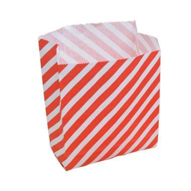 ToPack Paper Bag Garis Merah Souvernir Pesta - Red