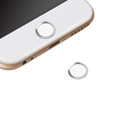 QCF Touch ID Home Button Colors Sti ... Phone - Putih Ring Silver