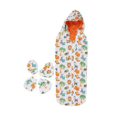 BabyTalk Motif Animal Bedong Instan ... rung Tangan & Sarung Kaki