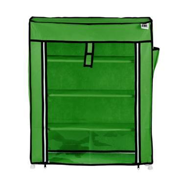 Nine Box M4 Transparan Rak Sepatu - Forres Green [4 Susun]