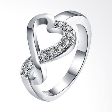 Bella & Co Ring LKNSPCR832-8 Aksesoris Cincin Lapis Silver