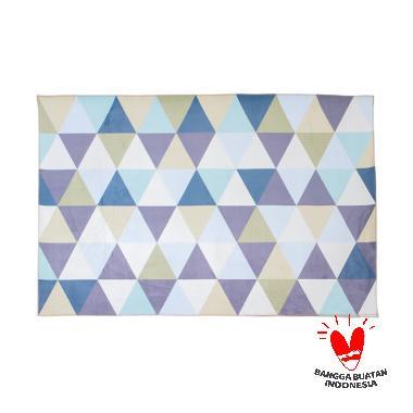 Mendekor Kaba Modern Scandinavian Karpet Lantai - Blue Tosca