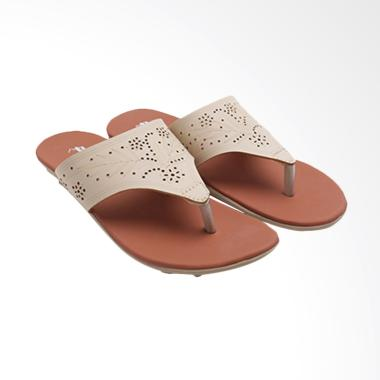 Dr.Kevin 27336 Ladies Flat Sandals - Crea m