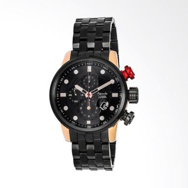 Alexandre Christie Black Dial Black ... k Gold ACF-6163-MCBBRBARE