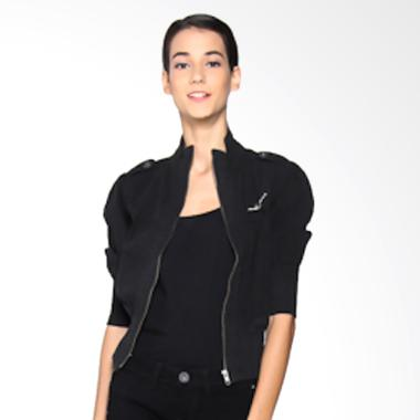 Mobile Power Ladies Denim Bolero 3/ ... cket Wanita - Black W7175