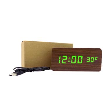 BestChoice Wooden Digital Clock LED ... yu Digital Besar - Coklat