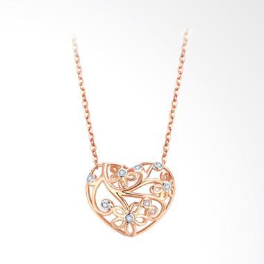 Tiaria Love Nest Liontin Emas 18K dan Berlian Aksesoris Wanita