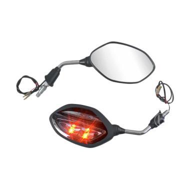 AHM Kaca Spion Motor with Lampu Sein LED for Blade R - Hitam Chrome