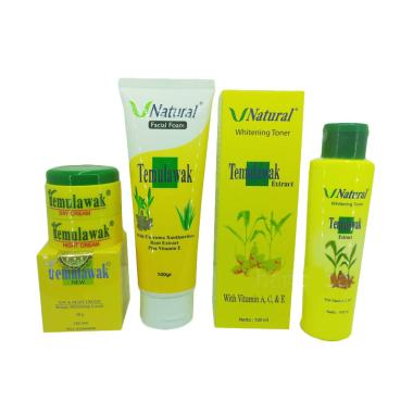 Temulawak Paket Cream Plus Facial Foam Dan Toner
