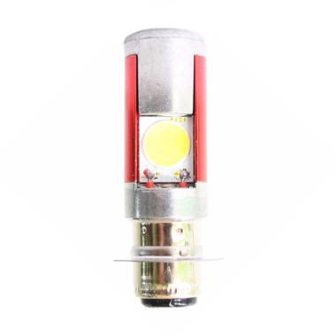 Raja Motor H6 LED (DC) Putih Lampu  ... rMerah-Silver-NyalaPutih]