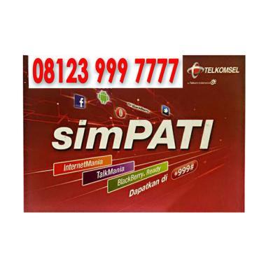Telkomsel Simpati Nomor Cantik 08123 999 7777 Kartu Perdana