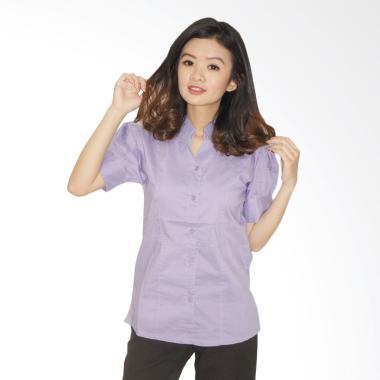 Adore Ladies Lengan Pendek Spirit Kemeja Atasan Wanita - Purple