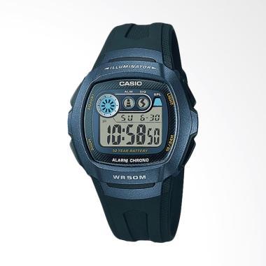 CASIO Standar W-210-1BVDF Alarm Chrono WR 50M Jam Tangan Wanita