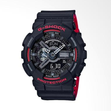 Casio G-Shock Strap Resin Jam Tangan Pria - Black GA-110HR-1ADR