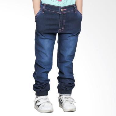 Versail S5243 Kids Celana Jeans Panjang Junior Jogger Pants - Biru