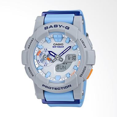 CASIO Baby-G BGA-185-2ADR Resin Band Jam Tangan Wanita - Blue Grey