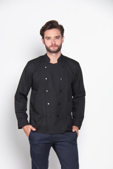 Chef Series Basic Tangan Panjang Baju Koki - Hitam [Size XXL]