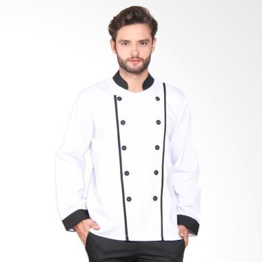 Chef Series Executive Tangan Panjang Baju Koki - Putih [Size S]