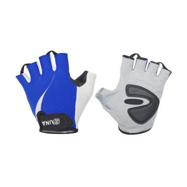 Zuna Sport Men Wave Cycling Gloves - Biru [XL]
