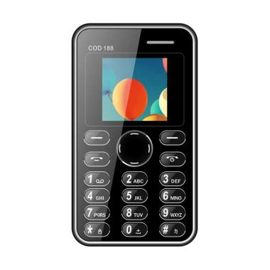 Brandcode B188 Cardphone Handphone - Hitam [Seukuran Kartu ATM]