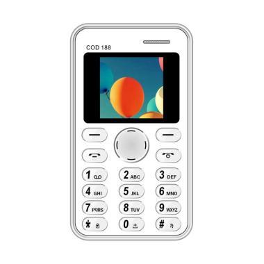 Brandcode B188 Cardphone Handphone - Putih [Seukuran Kartu ATM]