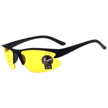 OULAIOU Anti UV Kacamata Sepeda - Black Yellow 3106