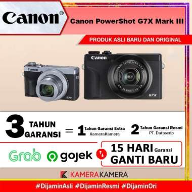 KameraKamera Canon PowerShot G7X Mark III Digital Compact Camera -Garansi Datascrip Hitam