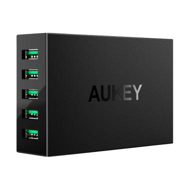 Aukey 5 Port USB Charging Station 50W (PA-U33) - Hitam