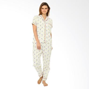 Madeleine Banana White Long Baju Tidur Wanita