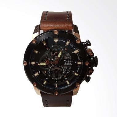 Alexandre Christie Chronograph Stai ... k Rosegold Brown AC6416MC