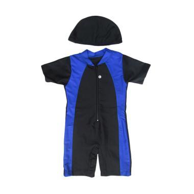 Rainy Collections Baju Renang Bayi Topi - Hitam Biru