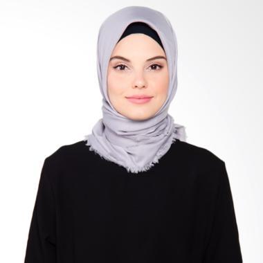 Beyola Katun Rawis Hijab Segiempat - Grey