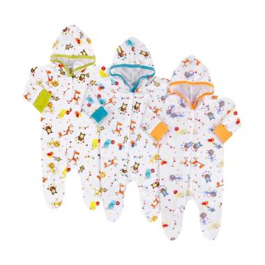 Velvet Junior Safari Baju Kodok Top ...  Pcs] New Born Multicolor