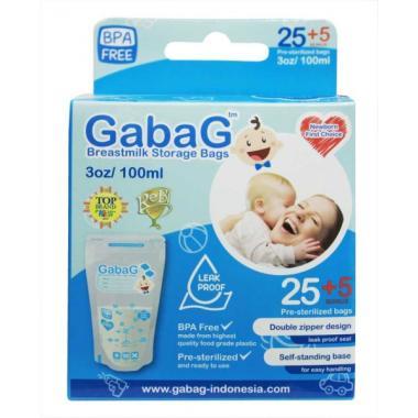 Gabag Breast Milk Bag Kantong ASI - Biru [100 mL]