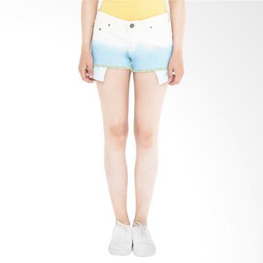 Mobile Power K5518 Ladies Ombre Short Pants - White Blue
