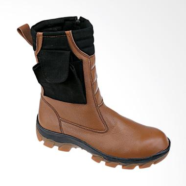 Recommended 244 Sepatu Boots Safety Pria - Coklat