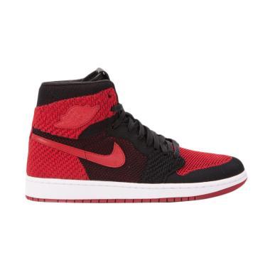 NIKE Men Air Jordan 1 Retro High Fl ...  - Black Red [919704-001]