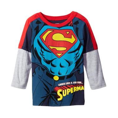 DC Comics Tema Superman Kaos Lengan Panjang Anak