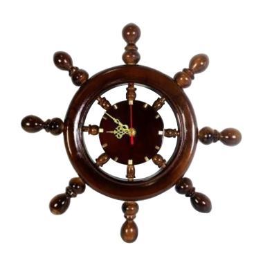 Ngasem Souvenir Nahkoda Kapal Kayu Jati Jam Dinding 4c0d0579eb