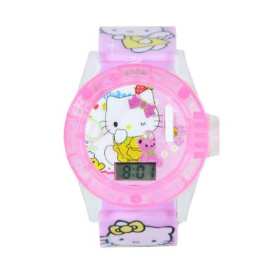 OEM Hello Kitty Projector Jam Tangan Anak Perempuan - Light Pink