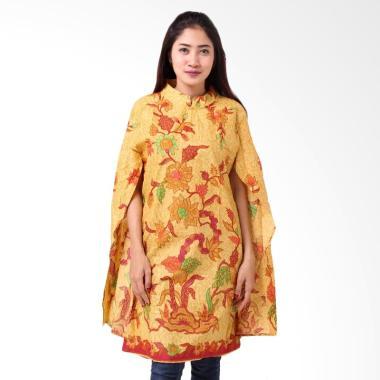 Batik Distro BA8815 Tunik Kaftan Blus Wanita - Kuning