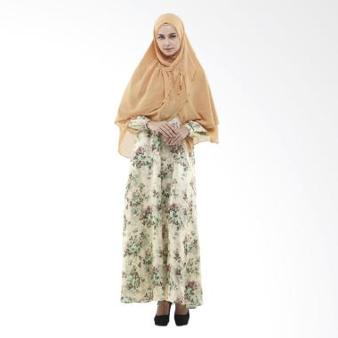 Zayani Alda Maxmara Satin Dress Gamis - Hijau