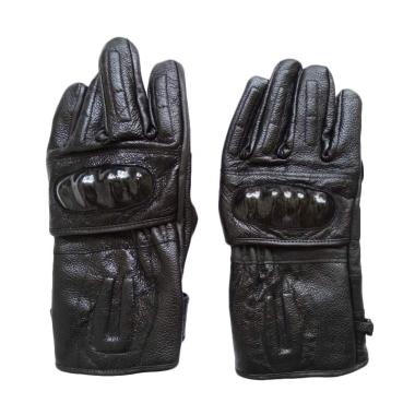 dm79 Kulit Asli Premium Batok Bikers Sarung Tangan Full Finger - Black